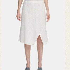 3/$30 Calvin Klein Eyelet Lace Split Hem Skirt 12